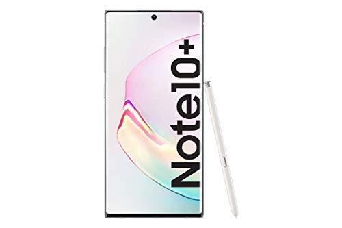 "Samsung Galaxy Note10+ Smartphone, Display 6.8"" Dynamic AMOLED, 256 GB Espandibili, SPen Air Action, RAM 12 GB, Batteria 4.300 mAh, 4G, Dual SIM, Android 9 Pie, Bianco"