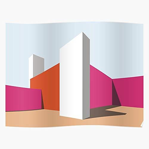 Pritzker Color Luis Vitra Architecture Colors Barragan Study Geschenk für Wohnkultur Wandkunst drucken Poster 11.7 x 16.5 inch