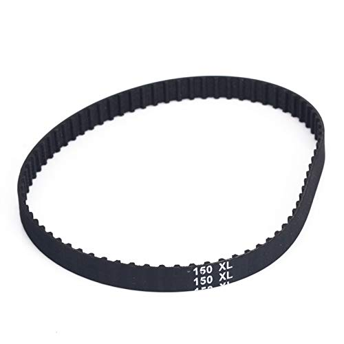 ZHaonan-timing belt 1 Piece Timing Belt, XL 10mm Aging-Resistant, 150XL037, Black, Timing Belts 75 Teeth, Cogged Rubber Geared Drive Belt Replacement parts