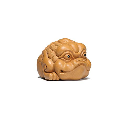 xuejuanshop Estatua chinesische Feng Shui Personalidad Creativa Golden Sapo Adornos Tailera Tail Tread Toad Decoración Feng Shui Lucky Dinero Frog Estatua Símbolo de la Riqueza Estatuas (Color : B)