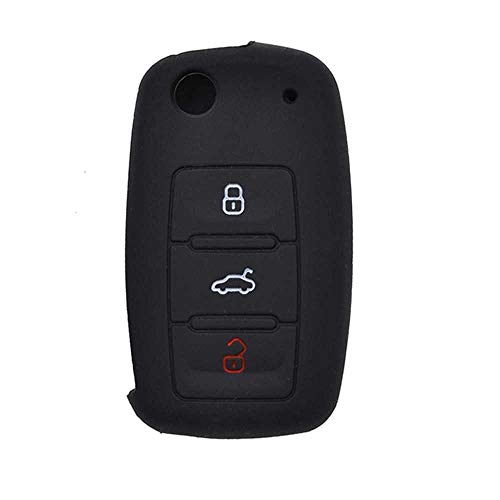 MPOQZI Cubierta de protección de Llave remota de Coche, Apto para Seat Leon Toledo Altea Ibiza para VW Golf Beetle Bora