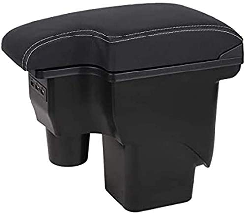 JYCX Caja De Almacenamiento para Reposabrazos De Consolas para Automóviles, para Ford Focus 2 Mk2 2005-2011 Caja De Reposabrazos para Consola Central, con 3 Tomas De Carga USB con Cenicero Portav