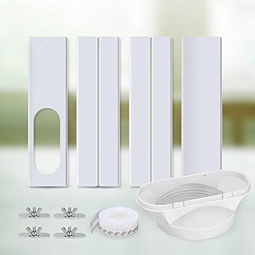 AC Window Seal, Window Sealing Kit Universal for Portable Air-Conditioner, AC Window Kit, Adjustable Window Sealing Plate Window Vent Kit for Tumble Dryer