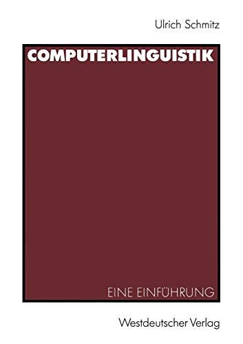 Computerlinguistik: Eine Einführung