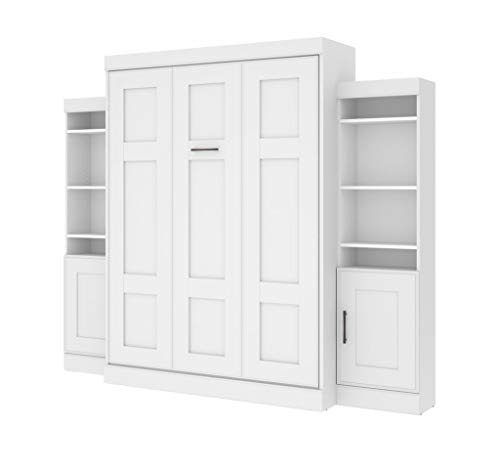 "Bestar, Edge Collection, Queen Murphy Bed and 2 Storage Units (107"")"
