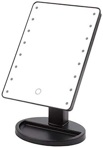 Espejo De Maquillaje con Iluminación LED, con Brillo Ajustable, Espejo De Sobremesa Independiente, con 12 Bombillas LED Regulables, Espejo De Maquillaje Iluminado