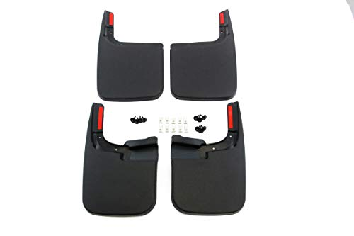 Red Hound Auto Compatible with Ford (2017-2020 F-250 F-350 Super Duty) Mud Flaps Splash Guards Front and Rear Molded 4pc Full Set (for Vehicles Without Fender Trim)