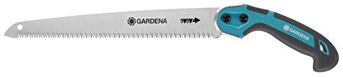 GARDENA Scie à élaguer 300 P : scie à main antirouille pour le bois, denture de précision pour une coupe lisse, avec œillet de suspension et protection du tranchant (8745-20)