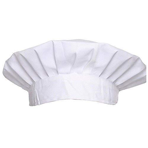Oyfel Gorro ajustable de polialgodón para chef cocinero pastelero colorblanco Gorro Cocinero Set gorros Chefs Ajustable Para Chef Pasteleria y Reposteria Uniformes De Trabajo Mujer y Hombre