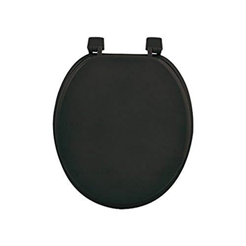 Douceur d'Intérieur 6STO085NR Siege de Toilette MDF Noir 47 x 37 x 5 cm
