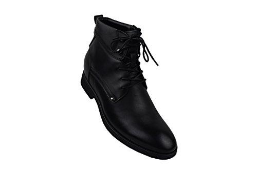 Zerimar Leder Stiefel mit 7 cm erhöhung Innen steigt Schuhe für Männer erhöhen auf undsichtbare Weise Ihre Körper Grösse Höhe Steigerung, Versteckter anhebender Ferse