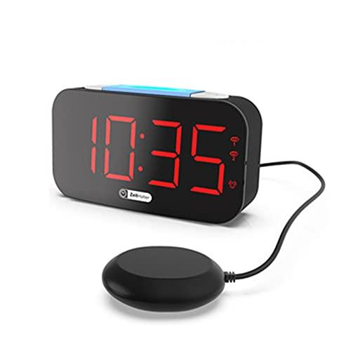Relojes Despertadores de Mesilla Despertador Inteligente Pequeno Digitales Digital Pilas para Niños Choque Inteligente Luminoso Cargar Dirigió Electrónico,Blue