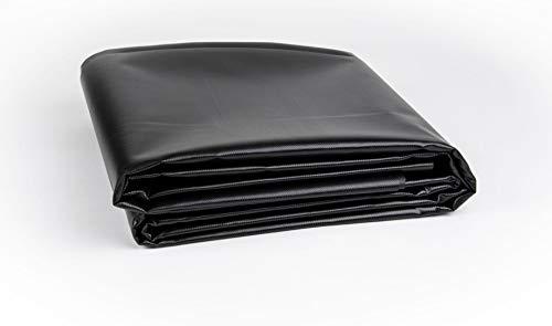 Vinyl Pond Liner 20 oz. 22 mil Heavy Duty Black Tarp (20' x 20')