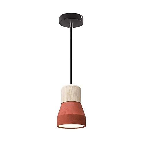 Loft Lámpara Colgante de Roble Industrial Lámpara de Techo Minimalista Vintage de...