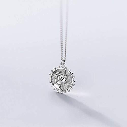 S&RL S925 Silber Anhänger Halskette Frauen Stil Japan und Südkorea Stil Mode Persönlichkeit Sonne Anhänger Kette Schlüsselbein Weiblichen SchmuckSilber, 925 Silber