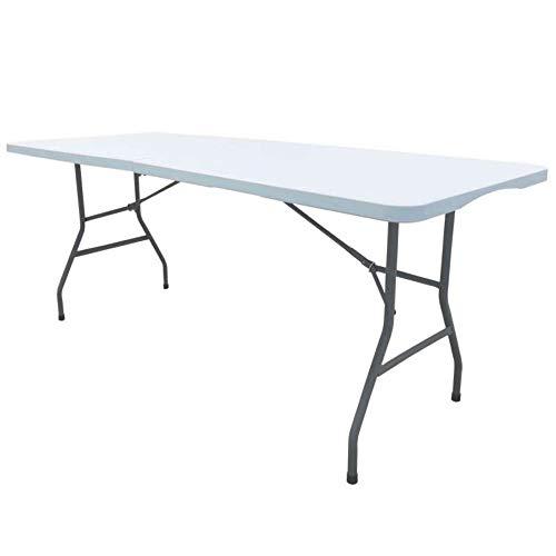 Werkapro Table Pliante Cross Outdoor Jardin rectangulaire-Jusqu à 8 Couverts-Blanc Cassé-180 x 75 x 74 cm-11344-Werkapro, 180 cm x 75 cm x 74 cm