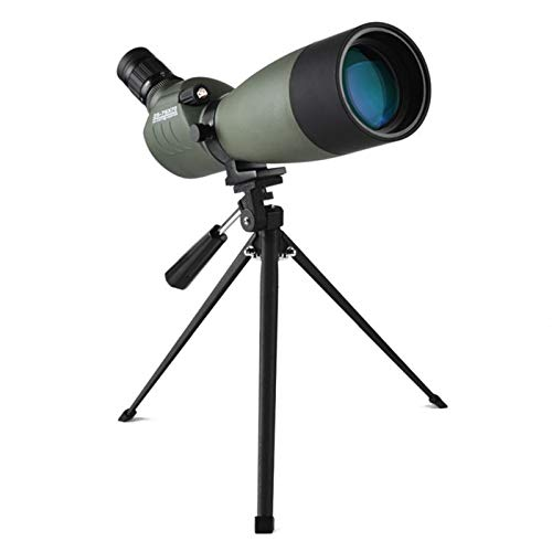YUNZHI 25x75 monoculars, high-power compact portable waterproof monoculars, equipped with a tripod, can be used for bird watching, hunting, hiking, fishing, outdoor sports and concerts,Green