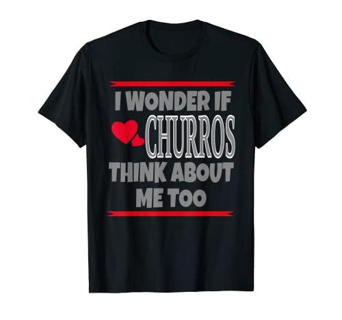 ストリートフードフェスティバル愛好家のためのノベルティチュロスデザイン Tシャツ