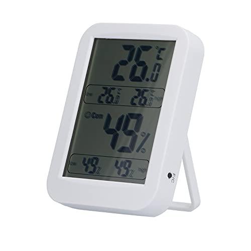 Yosoo123 Termómetro de Escritorio Digital Interruptor de ° C y ° F Registre el termómetro Interior Registre los valores más Bajos para el Uso de Invernadero de Garaje en casa