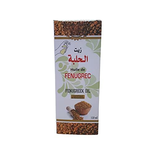 Huile de Fenugrec 120 ml - 100% Pure et Naturelle - Vegan - restaure les peaux sèches - soin visage, corps, cheveux- tonifie et augmente la poitrine