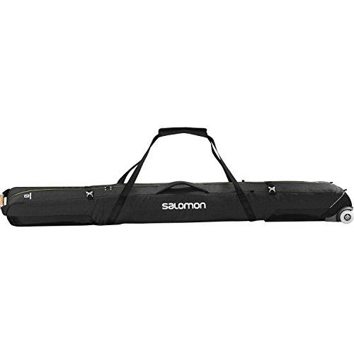 Salomon Connect 2 Pairs Wheely Ski Bag One Size Black Yuzu Yellow