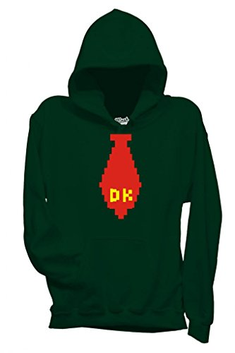 MUSH Sweatshirt Kapuzen Donkey Kong Krawatte - Musik by Dress Your Style - Baby-XL Dunkelgrün