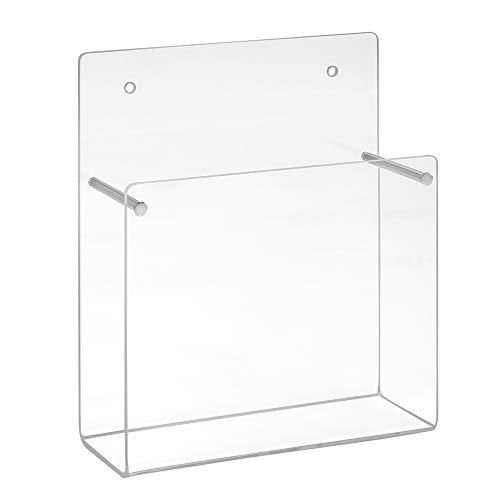 Din A6 Wandprospekthalter/Postkartenhalter im Hochformat aus Acrylglas
