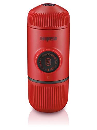 cafetera de viaje extra peque/ña Wacaco Nanopresso Port/átil Espresso Maker operada manualmente 18 Presi/ón de barra Edici/ón Red Patrol Versi/ón mejorada de Minipresso