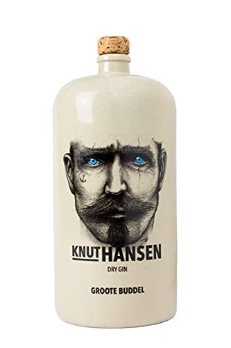 1.5 l KNUT HANSEN DRY GIN – handcrafted Gin nach klassisch nordischer Art, mit Wacholder, Gurke, Basilikum und Apfel, in Keramik-Flasche