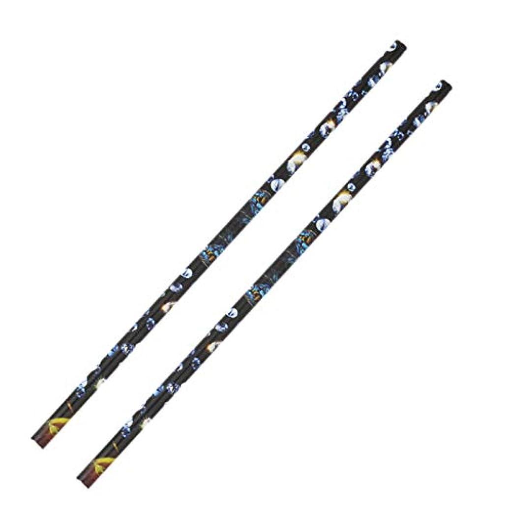 実際見えるエトナ山CUHAWUDBA 2個 クリスタル ラインストーン ピッカー鉛筆ネイルアートクラフト装飾ツール ワックスペンDIYスティッキードリルクレヨンラインストーンスティックドリルペン マニキュアツール
