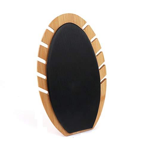 Dasing Neuheit Handgemachte Holz Flamme Form Halskette Kette Schmuck Display Stand Hochzeits Feier Geschenk Schwarz