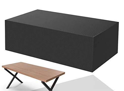TK Gruppe Timo Klingler XXL Tisch 125 cm Abdeckhaube - Abdeckplane schwarz, Gartentisch Abdeckung - Plane für Tisch & Gartenmöbel als Schutzhülle