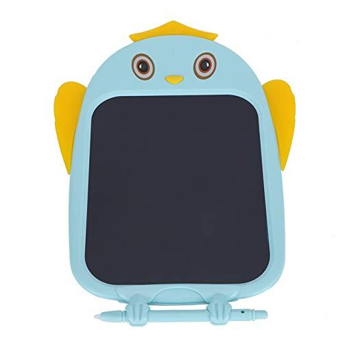 Herramienta de pintura de graffiti raspable, tableta de escritura LCD de búho azul, no daña el diafragma, con función de tocar para escribir,