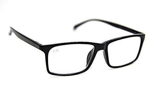 Fads & Fashions Fino con Estilo Retro Moda Alta Calidad Gafas de Lectura Con Extra Fuerte Todo Metal Primavera Bisagras En 5 Colores +1.0 +1.5 +2.0 +2.5 DX6 - Brillante Negro