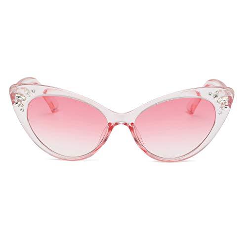 Yazidan - Gafas de sol para mujer, estilo retro, protección radiante, con marco, visión nocturna, para conducción, antibrillo, polarizadas, gafas de contraste
