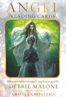 The Angel Divination Trio: Angel Reading Cards, Angel Whispers, Angel Wishes. Three Decks Collection Set by Debbie Malone.
