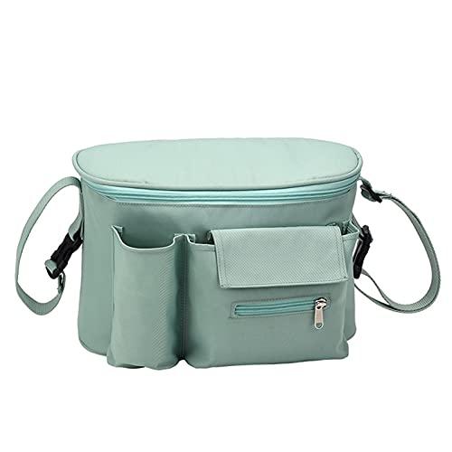 HKLY Kinderwagen-Organizer Kinderwagen Tasche Organizer Tasche Windeln Wickelbeutelwagen Buggy Pram Warenkorb Mommy Bag Säuglingpflege Organizer (Color : Green)