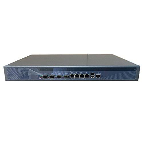 HUNSN Firewall, Mikrotik, Pfsense, VPN, 1U Rackmount, Network Security Appliance,Z87,Intel Pentium G3250,(Gray), RS20,[4 Gigabit LAN/4 Gigabit SFP/2USB/1COM/1VGA/1Bypass],(4G RAM/64G SSD)