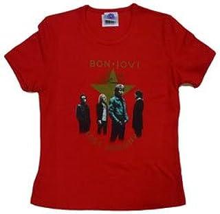 BON JOVI ボン・ジョヴィ (デビュー35周年記念) - Girl Shirt/Photo Star/Tシャツ/レディース 【公式/オフィシャル】