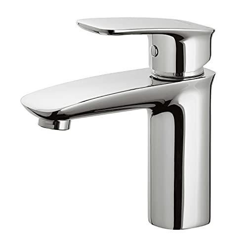 VILSTEIN Waschtischarmatur für Badezimmer | Waschbecken Wasserhahn | chrom | Hochdruck Einhebelmischer | Aufsatz | mit Perlator & Kartusche
