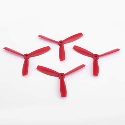 Greatangle OCDAY 5045 Bull Nose 3-Blade Rafforzare Prop CW/CCW Elica per 250/280 Drone Multicopter Quadcopter FPV (2 paia) Rosso