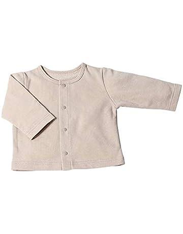 f535c58bb564b ベビーカーディガン OP-mini (長袖 丸襟) 赤ちゃん はおりもの ベージュ