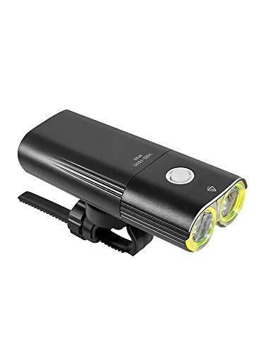 HENGTA Fahrradlicht LED, USB Wiederaufladbare Fahrrad Licht, IP65 wasserdichte Fahrradlampe, Fahrradlicht Superhelle, Fahrradbeleuchtung für Nachtfahrer,Radfahren und Camping