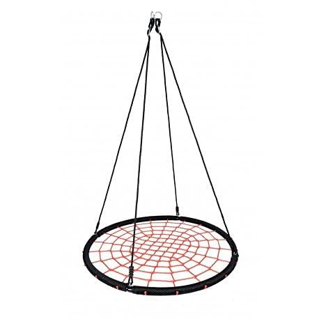 Columpio nido, diámetro de 120 cm, columpio nido, columpio doble para exterior, columpio redondo