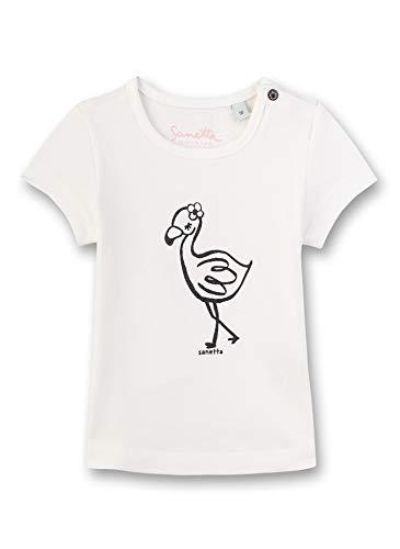 Sanetta Baby-Mädchen T-Shirt, Beige (Ivory 1829), 74 (Herstellergröße: 074)