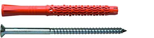 MUNGO 1060116 MQL 10x160 ST Universal-Fassadendübel mit Senkkopfschraube verzinkt 50 Stück