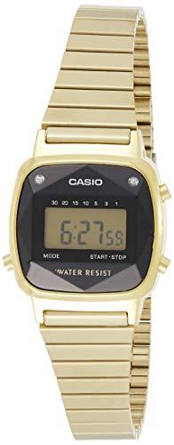 Casio Damen Digital Quarz Uhr mit Edelstahl Armband LA670WEGD-1EF