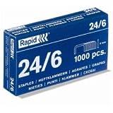 Rapid 24/6 - Grapas, 20x1000
