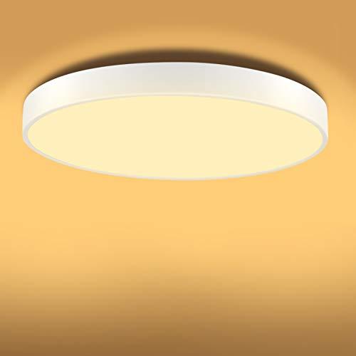 TYCOLIT Plafon LED de Techo, 20W Lámpara de Techo Moderna, LED Plafón para Baño Dormitorio Cocina Balcón Pasillo Sala de Estar Comedor 2800 LM, 3000K, Ø30cm, IP54 [Clase de eficiencia energética A+]