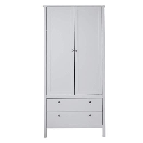 trendteam smart living Babyzimmer Kleiderschrank Schrank, 91 x 192 x 51 cm in Weiß mit viel Stauraum